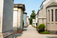 Pathway on cemetery