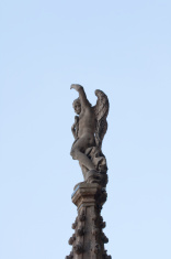 Statue of an Angel wings on the spire, Milan cathedral