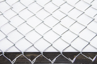 Wire mesh on white background