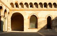 Courtyard of Sforzesco in Milan