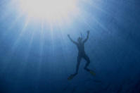 snorkel with sun rays
