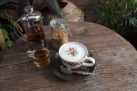 Cappuccino coffee and hot tea