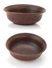 empty ceramic bowl  on white