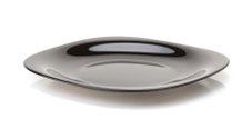 empty ceramic plate  on white