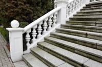 white plaster railings