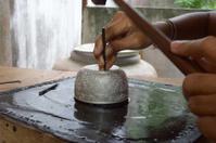 Local silver handicrafts by hand. At Nakhon Si Thammarat.