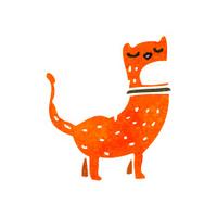 retro cartoon funny ginger cat