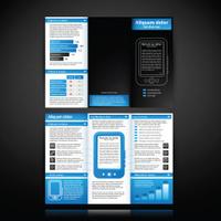 Brochure design layout template