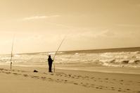 The beach fisher.
