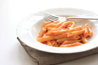 Italian food, tomato sauce and penne