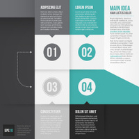 Vector infographics abstract banner template design