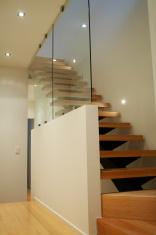 Modern home interior staircase