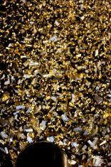 Gold Confetti Rain