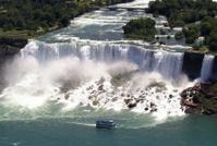 Niagara American Falls - aerial view