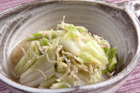 Boiled dishes of chinese cabbage