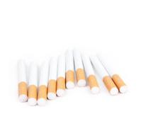 Cigarettes on white