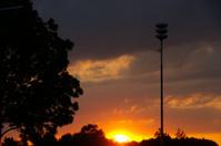 Alarm tower at sunrise