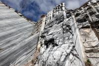 White gray marble quarry
