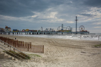 Galveston beach and boardwalk