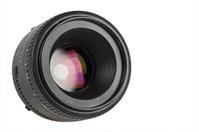 Nice camera lens isolated on white background