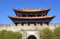 Gate and wall of Dali old city, Yunnan province, China