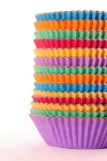 Bright cupcake holders vertical