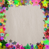 star frame on  paper