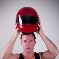 Donning a Racing Helmet
