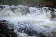 Threshold on the river Kolvitsa in Karelia, Russia