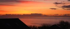 Beautiful Pink Orange Sunrise, Cornwall, England