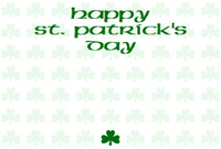 Happy St. Patrick's Day with cloverleaf background