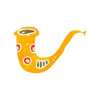 retro cartoon saxophone