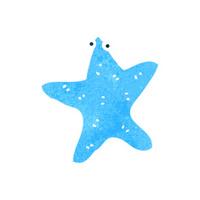 retro cartoon starfish