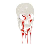 retro cartoon skull symbol