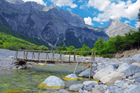 Thett Valley. Prokletije Mountains