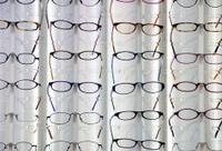 Glasses in optician shop