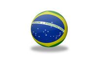 Brazil Flag Sphere.