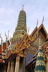 Buddhist temple closeup