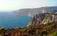 seacoast with cliff on Zakynthos island