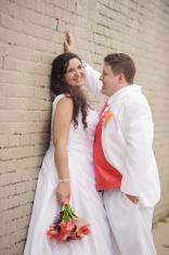 Closeup of Happy Bride