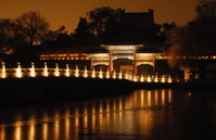 Chinese bridge by night