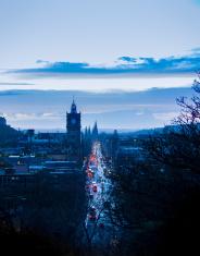 Edinburgh Princes Street from Calton Hill