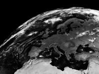Europe on black Earth