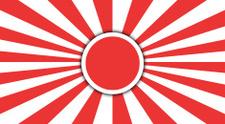 Imperial Japanese flag.