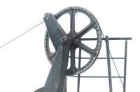 ski lift chailift wheel in summer isolated on white