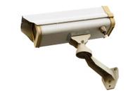CCTV camera isolate on white