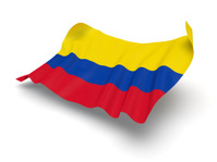 Hovering Flag of Colombia (Clipping Path)
