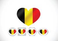 National flag of Belgium themes design