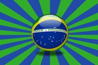 Brasil flag sphere.