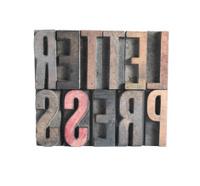 wood letters spelling out 'letterpress'